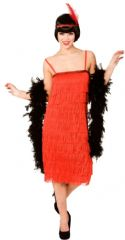 Jazzy Flapper Costume- Red (EF2149)